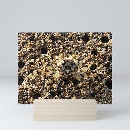 Crab of Sand on Sand Mini Art Print