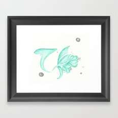 Green Flower Framed Art Print