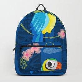 Squeaky Beakies With Freaky Tikis Backpack