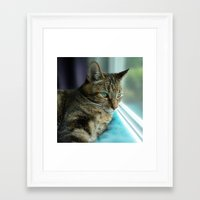 marley Framed Art Prints featuring Marley by Jennie Renner
