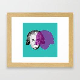 Goethe - teal and purple portrait Framed Art Print