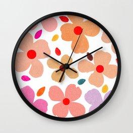 dogwood 3 Wall Clock