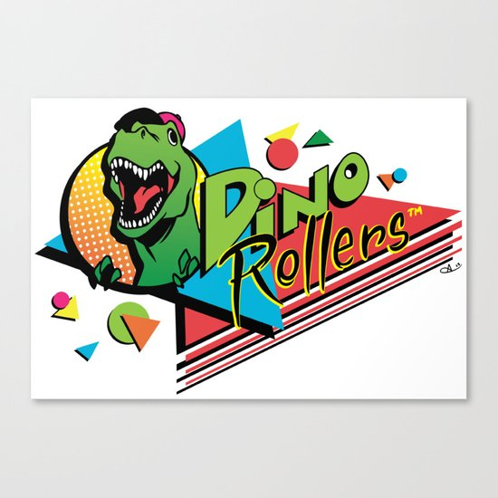 Dino Rollers Logo Canvas Print