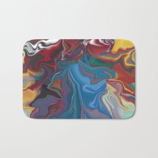 abstract oil pattern Bath Mat
