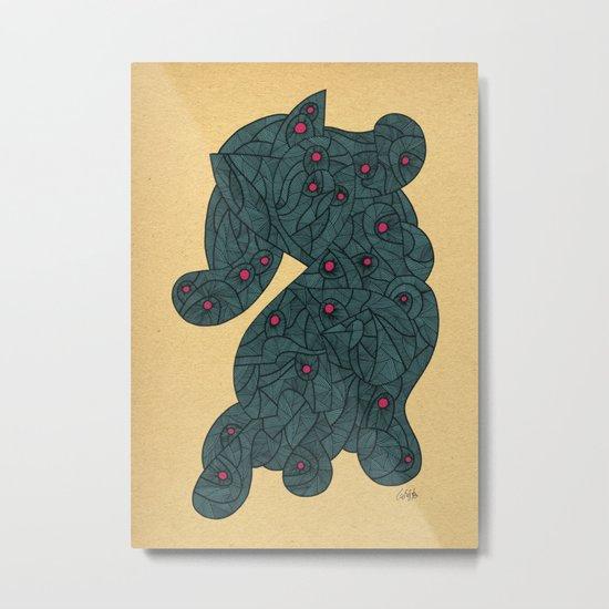 - blue blob pop - Metal Print