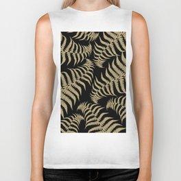 Fern Leaves Pattern - Golden Dream #1 #ornamental #decor #art #society6 Biker Tank