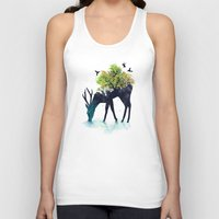 psychedelic art Tank Tops featuring Watering (A Life Into Itself) by Picomodi