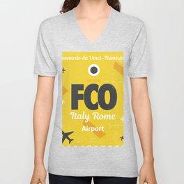 FCO Italy Rome Unisex V-Neck