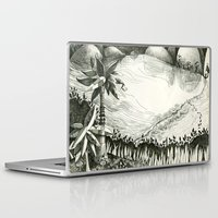 hunting Laptop & iPad Skins featuring Moon Hunting by Nayoun Kim