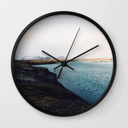 From the other side, Jökulsárlón, Iceland Art Print Wall Clock