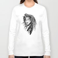 native american Long Sleeve T-shirts featuring Native American by JonathanStephenHarris