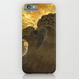 Broccoli Planet at the Edge iPhone Case