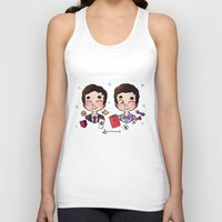wes anderson Tank Tops featuring 5 years of Blaine Anderson by Sunshunes