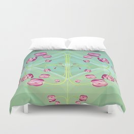 Tulips in green shades Duvet Cover