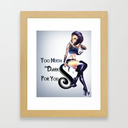 darks Framed Art Print
