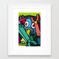 artsy Framed Art Prints featuring Artsy Bot by Brandon Ortwein