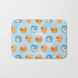 Umie & Mochi VIII - Pattern 2 - Blue Bath Mat