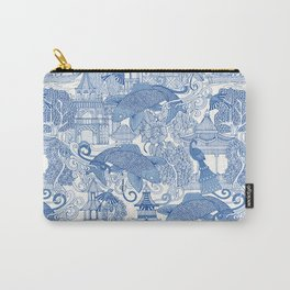 chinoiserie toile blue Carry-All Pouch