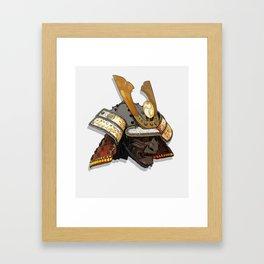 Kabuto - Samurai helmet Framed Art Print