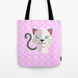 oneechan no shiro neko white cat kitten Tote Bag