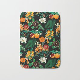 Fruit and Floral Pattern Bath Mat