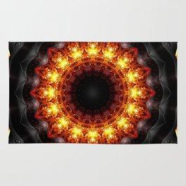 Mandala burning heat Rug