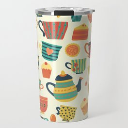 Tea Time Pattern - Sweet Treats Travel Mug
