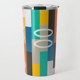 Modern abstract construction Travel Mug