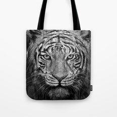 Tiger Black & White Tote Bag