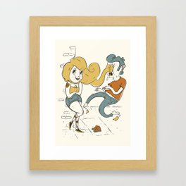 Hit Like A Girl! Framed Art Print