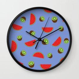 Kiwi Watermelon Wall Clock