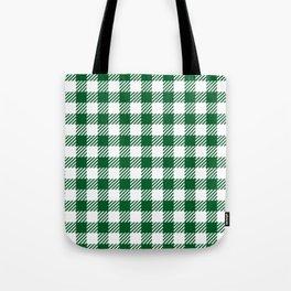 Green Vichy Tote Bag