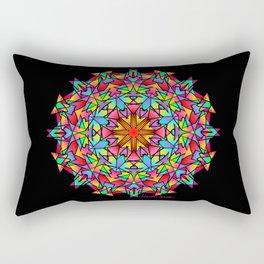 Psychedelic Porcupine Mandala Rectangular Pillow
