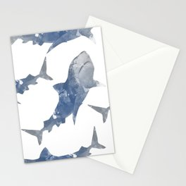 The World is Full of Sharks Stationery Cards