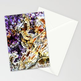 Purple Agate Stationery Cards