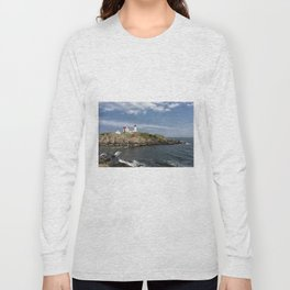 Nubble Lighthouse in Summer Long Sleeve T-shirt