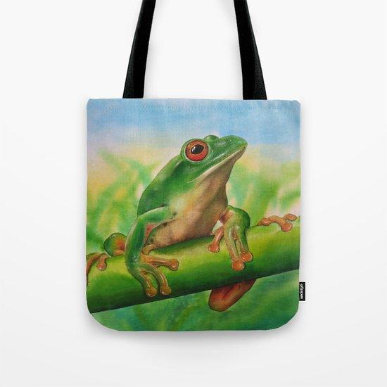 Green Treefrog Tote Bag