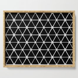 HEX - black & white Serving Tray