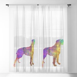 Bohemian Wirehaired Pointing Griffon in watercolor Sheer Curtain