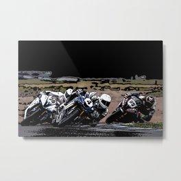 Art of motorbike racing Metal Print