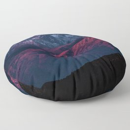 Red mountain 4 Floor Pillow