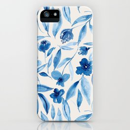 Prussian Floral iPhone Case