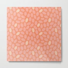 Peachy Keen Elongated Pods Metal Print