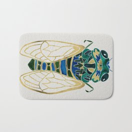 Green & Gold Cicada Bath Mat