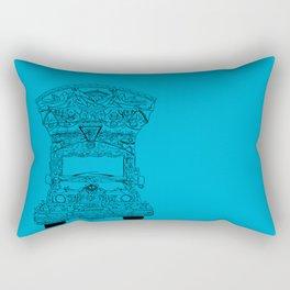 Pakistani Truck. (Light Blue) Rectangular Pillow