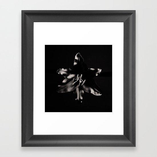 Gaping Black Framed Art Print