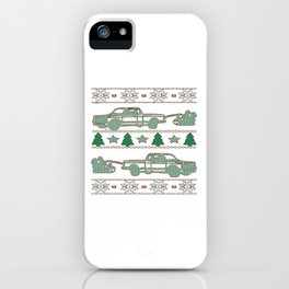 Trucker Christmas iPhone Case
