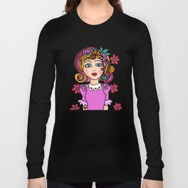 Style Girl - No7 - Doodle Art Long Sleeve T-shirt