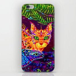 Cat and Bird iPhone Skin