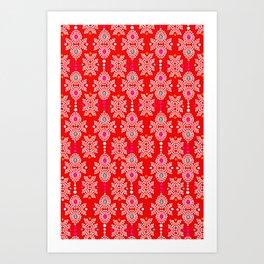 Stella in Red Pattern Art Print